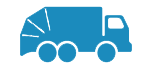 icon of a refuse collection vehicle