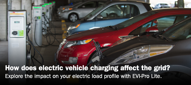 How does electric vehicle charging affect the grid? Explore the impact on your electric load profile with EVI-Pro Lite.
