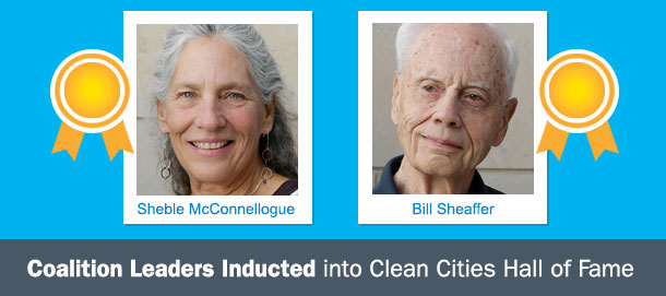 Coalition Leaders Inducted into Clean Cities Hall of Fame: Sheble McConnellogue and Bill Sheaffer