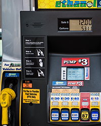 Photo of an ethanol fueling station.