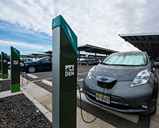 Photo of a plug-in hybrid vehicle fueling.