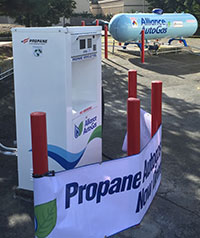 Photo of a liquefied petroleum gas fueling station.