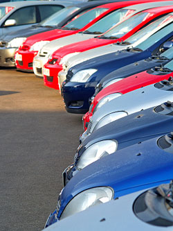Photo of a vehicle fleet.
