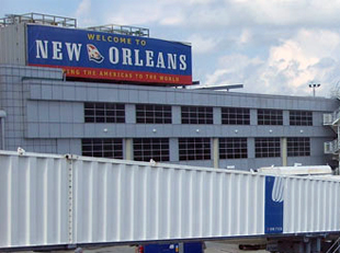 Photo of building at New Orlean's Airport.
