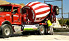Photo of a concrete mixer