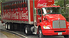 Photo of a Coca-Cola hybrid electric delivery truck