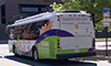 Photo of a hybrid electric shuttle bus