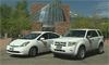 Photo of city vehicles.