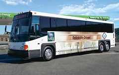 photo of a D4500 CT Hybrid Commuter Coach