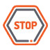 icon of a stop sign